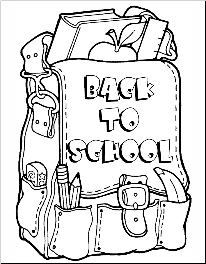 It's just an image of Sassy back to school coloring pages for first grade