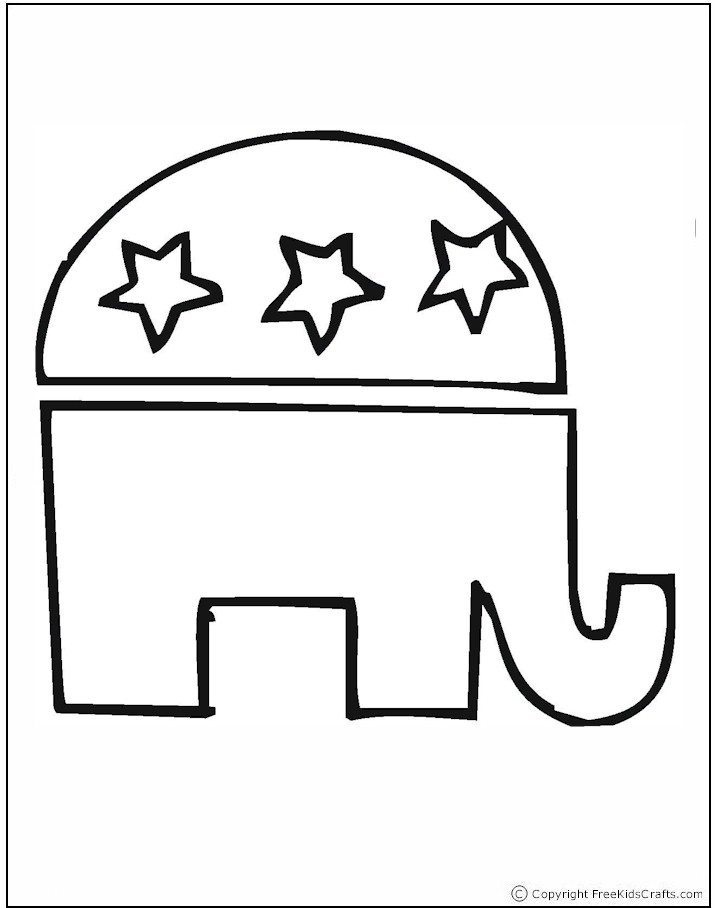 coloring pages election day - photo#10